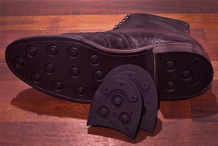 Dainite studded rubber heels