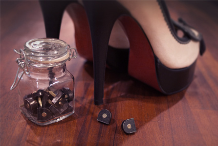 Ladies metal heel tips