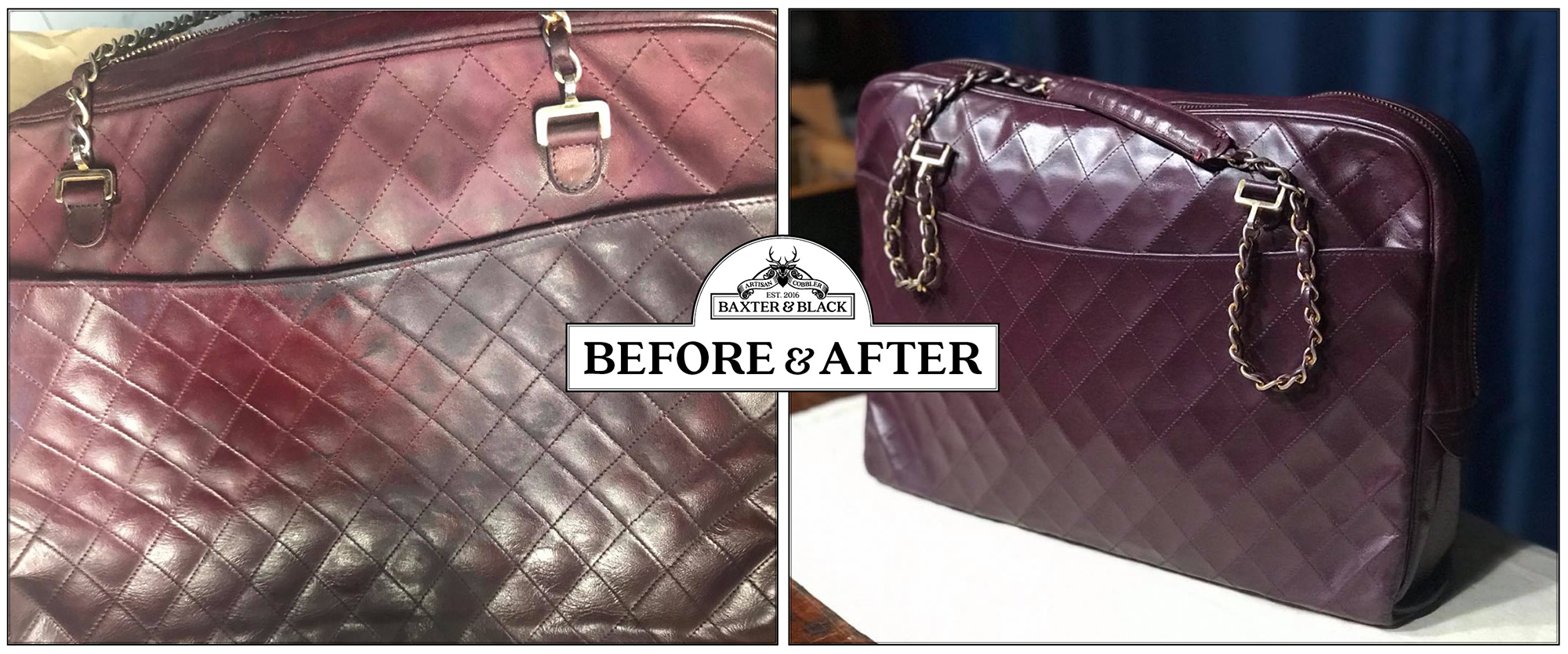 Chanel handbag recolour and restoration