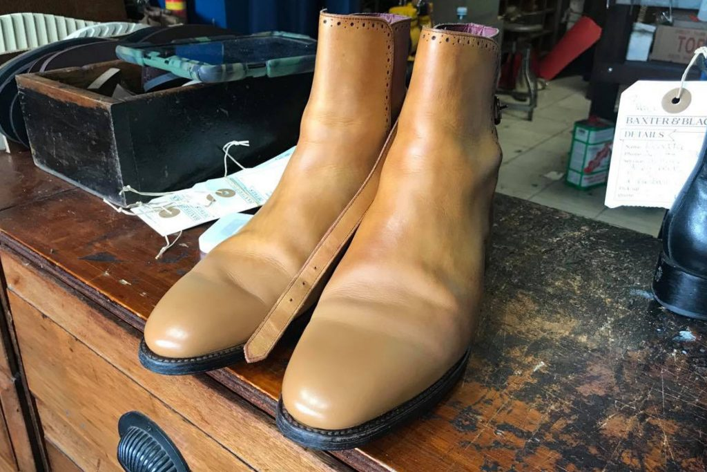 Boot restoration and recolour