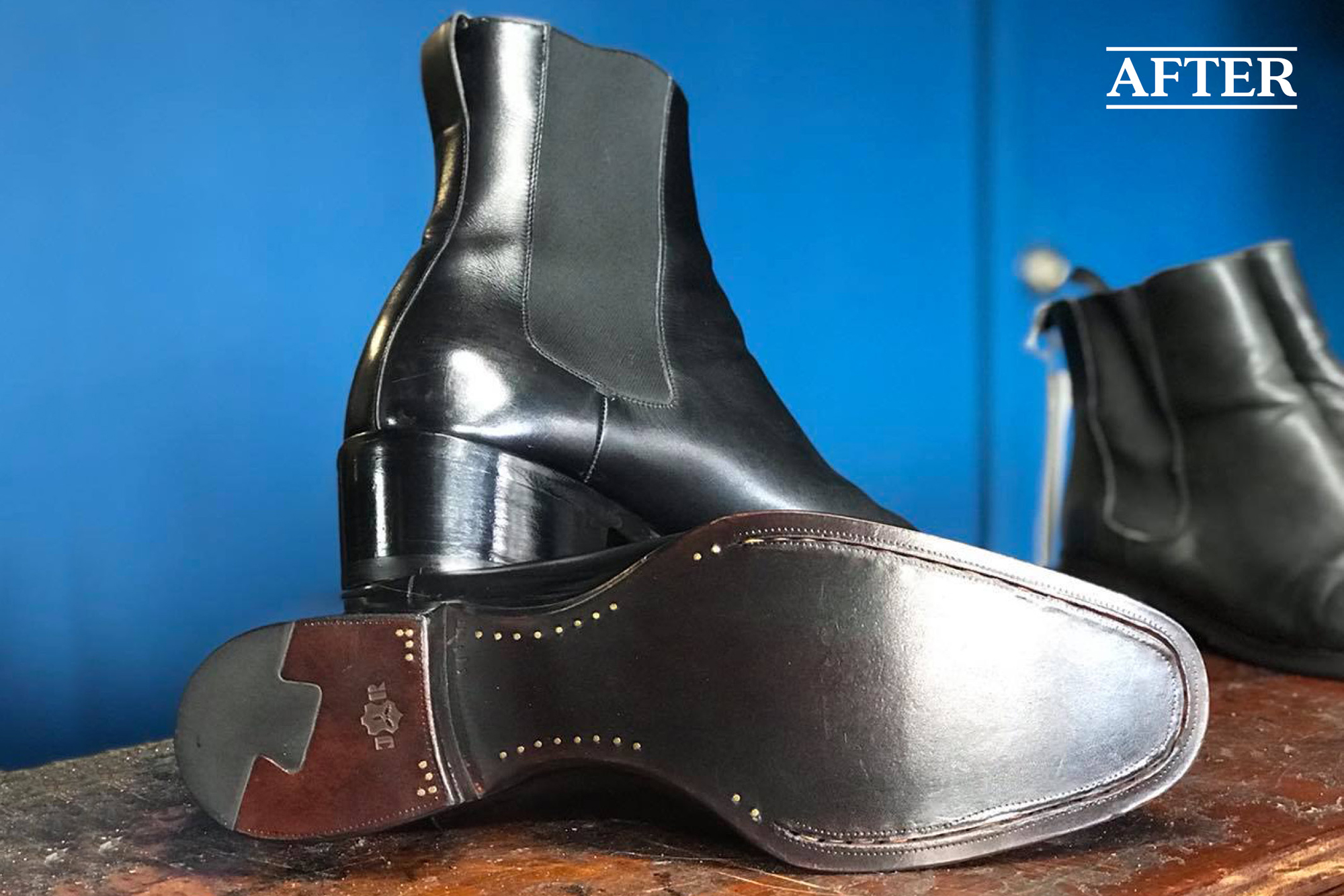 Tom Ford JR Rendenbach sole and dovetail heel after