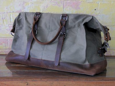 Waxed Canvas Duffle Bag