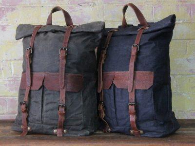 Waxed-canvas-backpack