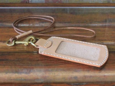 Hand-stitched Leather Luggage Tag
