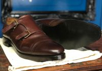 Goodyear welted baker leather resole