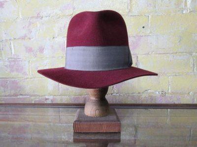 Burgundy handmade hat