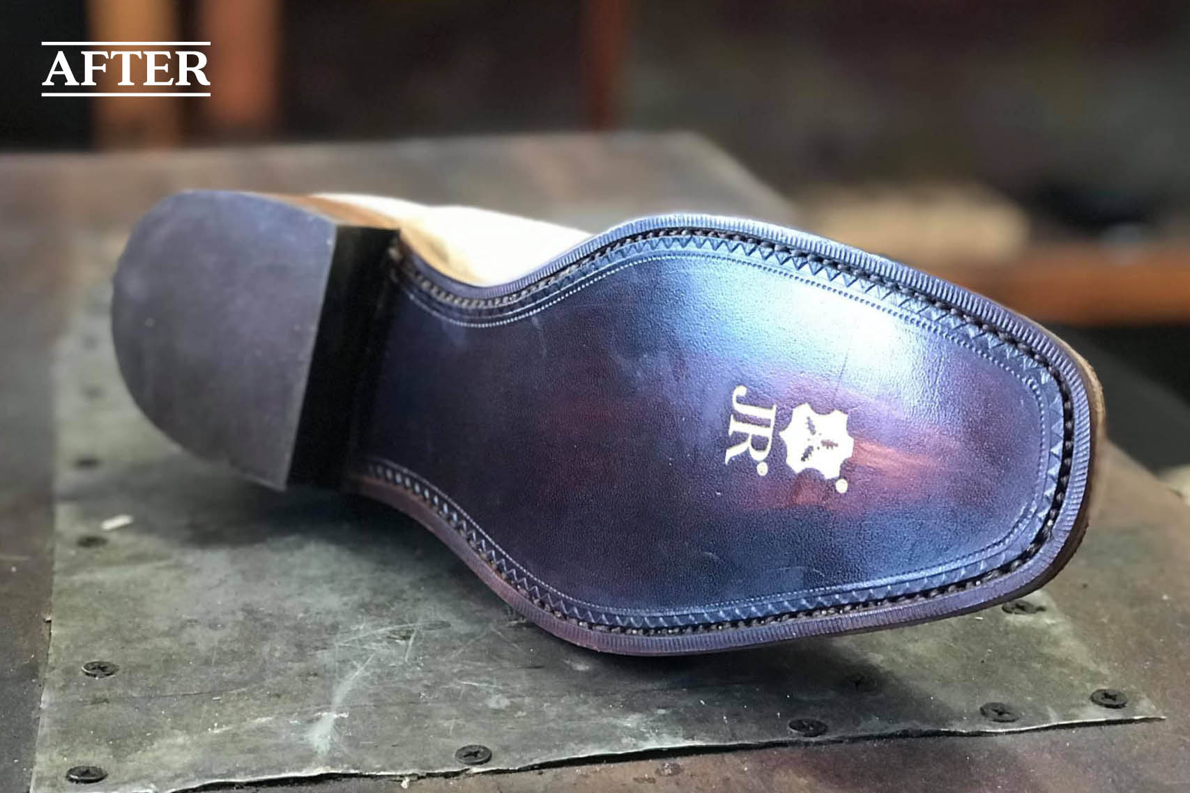 RM Williams JR leather resole
