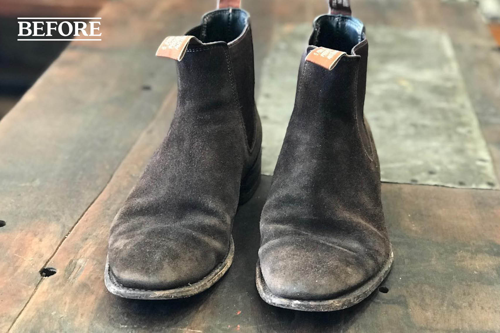 Old RM Williams boots