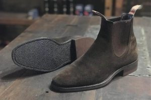 Suede RM Williams with Rubber Sole